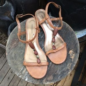 💥3 for $20💥 nude sandals w. beaded strap detail